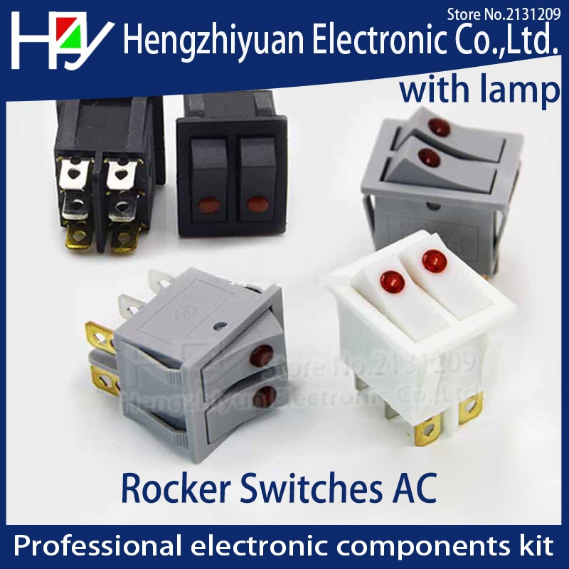 СВЕТОДИОДНЫЙ Электрический обогреватель Hzy 6A250V с двумя кнопками, черный, серый, белый