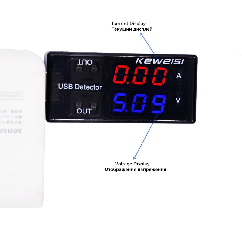 USB Tensão Tester Atual USB Amperímetro Tensão Detector USB Dupla Linha Mostra Novo preço de Fábrica 20%