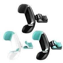 Soporte Universal de teléfono para coche SOONHUA para iPhone 8X7 Mini soporte de montaje de ventilación 360 rotación soporte de teléfono móvil para coche