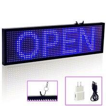 Tablero de pantalla Led de 34cm para negocios, Luz Azul SMD P5, señal LED, WIFI, Control remoto, desplazamiento programable, mensaje