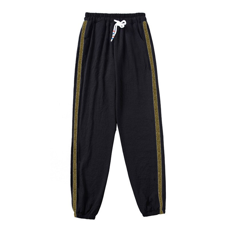 Fashion Simple Double Striped Jogger Haren Pants Long Leisure Women Bottoms Female Clothes Sweatpants Trousers Thin Loose