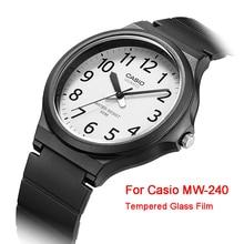 3 pièces/lot 2.5D 9H montre claire Anti-déflagrant Film protecteur garde Anti-rayure verre pour Casio MW-240 protecteur décran