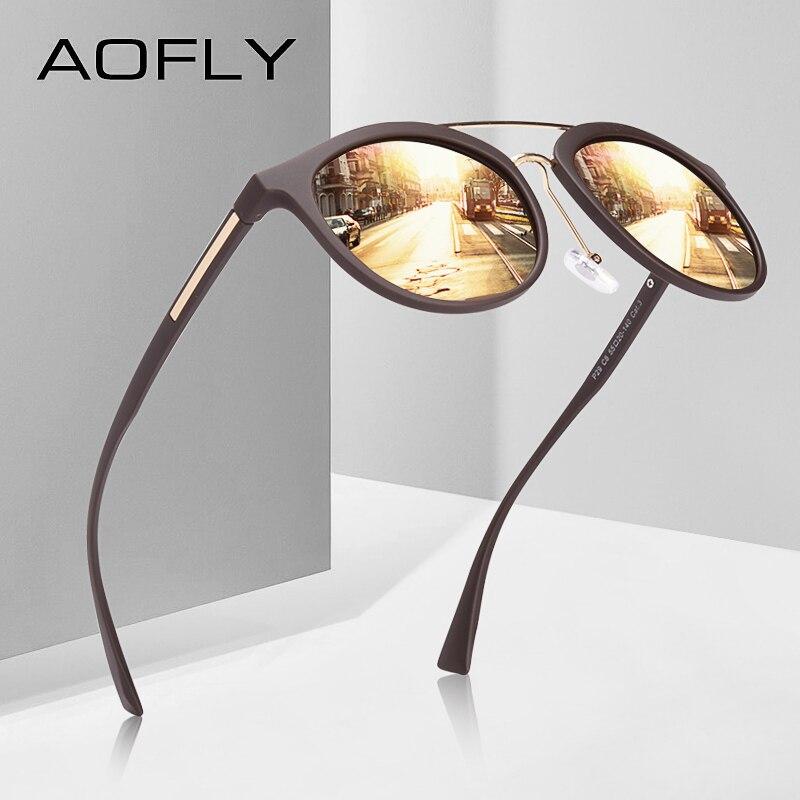 AOFLY BRAND DESIGN Classic Polarized Sunglasses Women Vintage TR90 Frame Driving Sunglasses Men UV400 AF8094