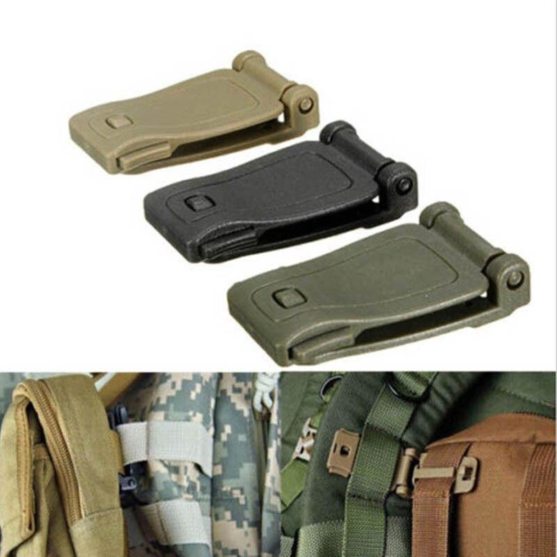 Lote 2 uds EDC herramienta pequeña Molle Correa hebilla mochila tejido de bolsas conectar Clip nuevo