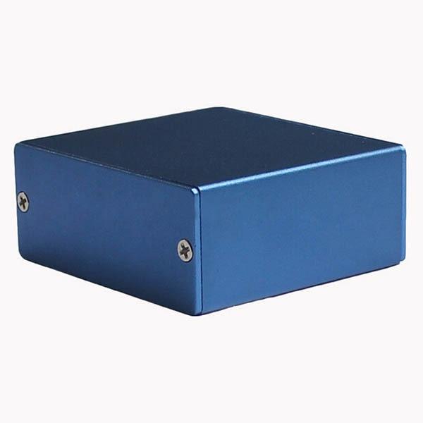 Caja de aluminio transmisor carcasa caja eléctrica azul personalizado DIY 50*58*24mm nuevo