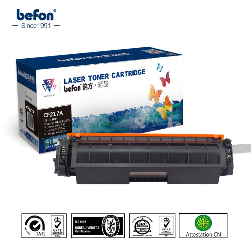 Befon CF217A CF217 217 217A 17A cartucho de tóner Compatible para HP LaserJet Pro M102a M102W 102 MFP M130a M130fn 130fn M102 M130
