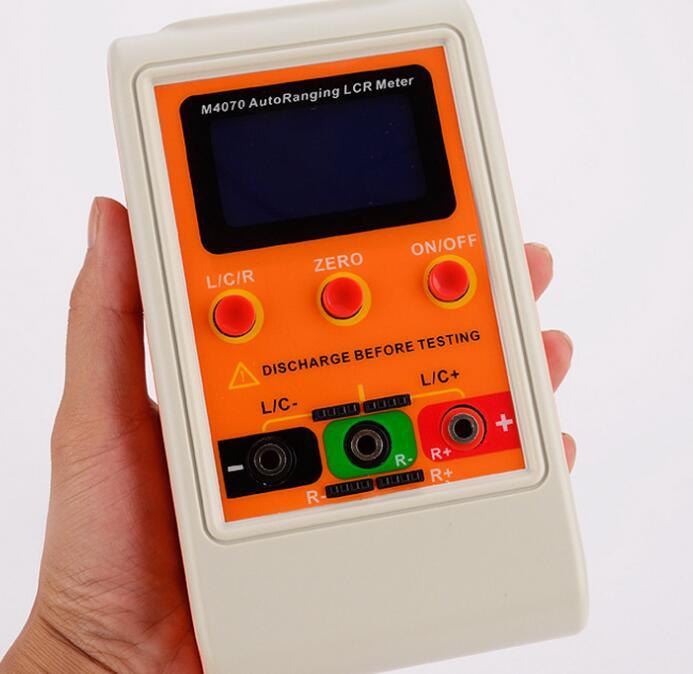 Portátil LCR puente M4070 medidor de capacitancia de gran rango Tabla de inductancia 100 H 100mF20MR