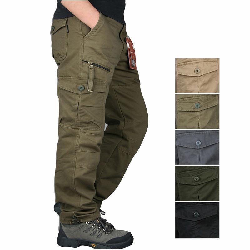 2021 зимние хлопковые тактические брюки, Мужская Уличная одежда на молнии, армейские брюки-карго, брюки в стиле милитари, мужские повседневны...
