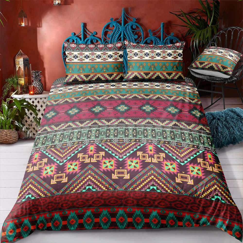 Thumbedding Ancient Indian Cultural Bedding Sets King Size Twin Full Queen King 3D Duvet Cover Set Single Double Quilt Cover rendezvous with ancient indian society