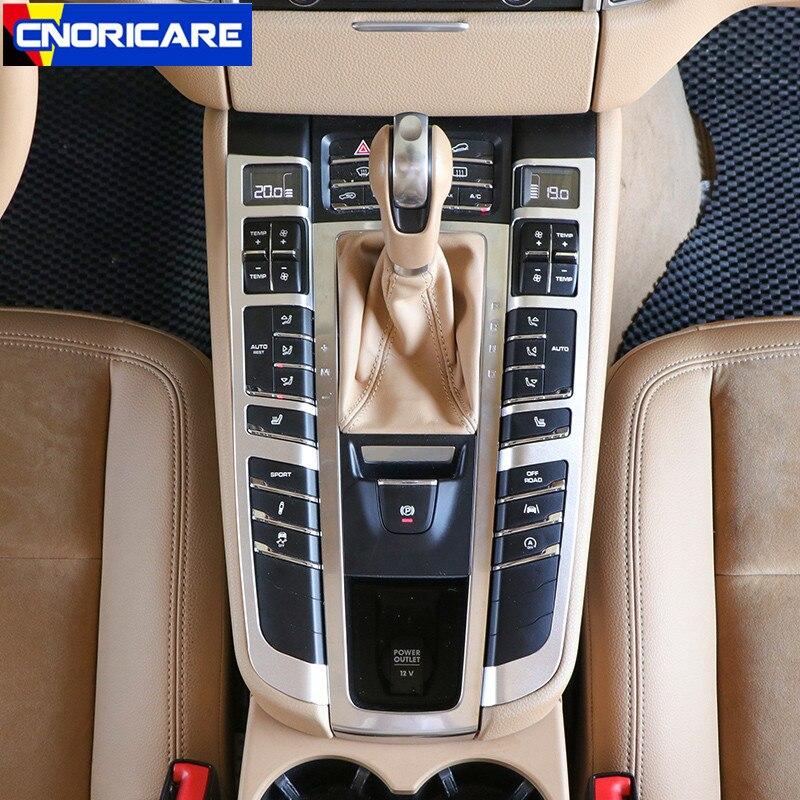 Алюминиевый сплав, Автомобильный Центральный контроль, кнопки, рамка, украшение, наклейка, отделка для Porsche Macan, аксессуары для интерьера