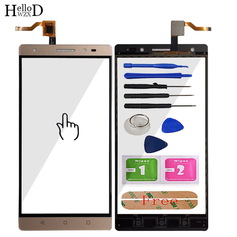 Mobile Touch Screen Front For Lenovo PHAB 2 Plus Touch Screen Front Glass Digitizer Panel Sensor TouchScreen Adhesive Tools mobile touch screen for alcatel one touch pop c7 7041 ot 7041d 7041x 7040e 7041d front touch screen digitizer panel sensor