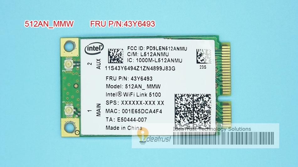 Беспроводная сетевая карта 5100AN для Intel WiFi link 5100 5100AN 512AN_MMW 512 anmmmw FRU 43Y6493 WiFi для lenovo R400 R500 Y450 G450