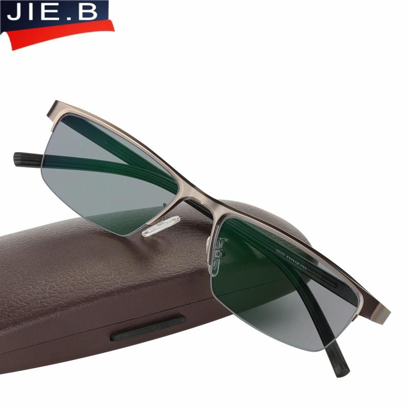 Gafas de sol de acero inoxidable, transición, Gafas de lectura fotocromáticas para hombre, Gafas de dioptrías para presbicia, Gafas de lectura leesbril