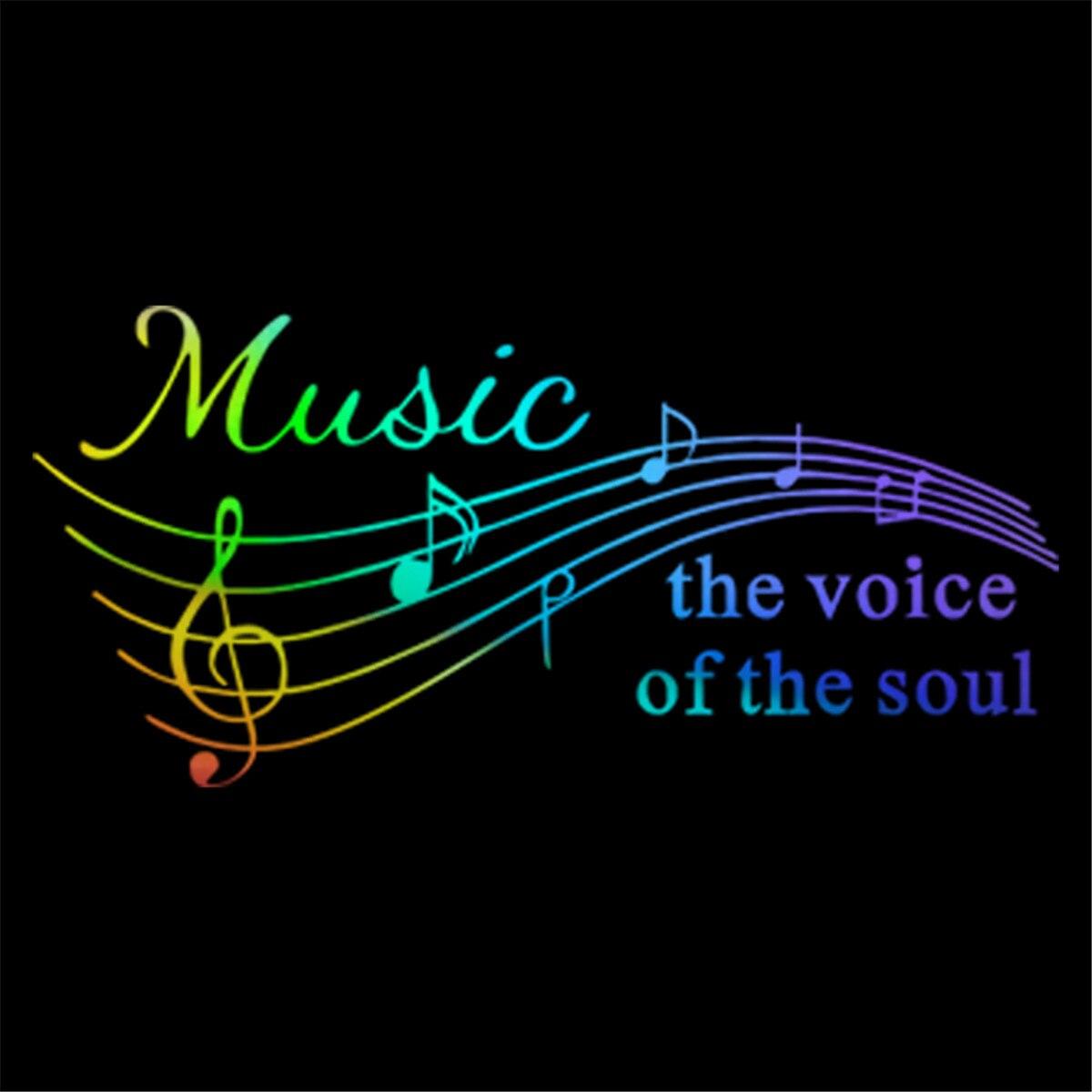 Música a voz da alma Vinil Removível Decalques Decors Adesivos Instrumen art