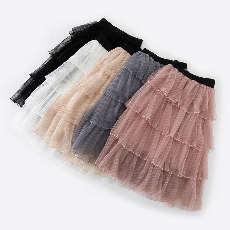 Mädchen Pettiskirt Mode Koreanische Multi-schicht Mesh Kuchen Rock Hohe Qualität Plissee Tutu Prinzessin Röcke 4 5 6 7 8 jahre Mädchen Rock