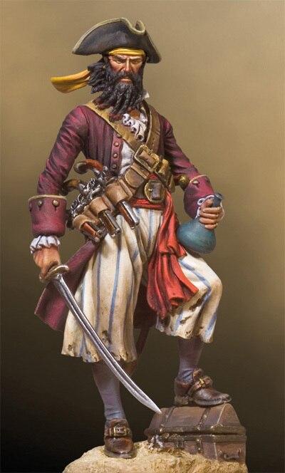 Пират капитан черная борода 54 мм
