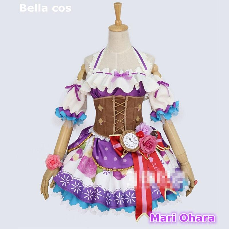 Disfraz personalizado de cosplay de Aqours Mari Ohara de Love live sunshine para San Valentín, vestido idolatrado de Halloween, ropa de Anime cos