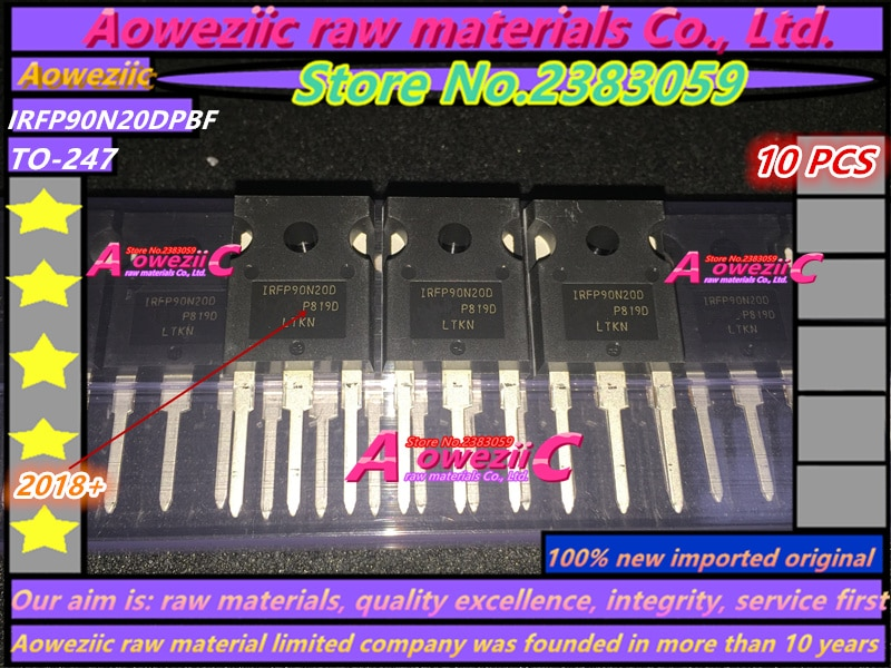 Aoweziic 2018 + 100% новое импортное Оригинальное IRFP90N20DPBF IRFP90N20D IRFP90N20 FP90N20D TO247 полевой эффект три полюса 200V 94A