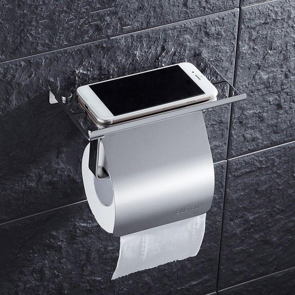Soporte de tejido antioxidante de acero inoxidable, estante colgante montado en la pared, rollo de soporte para papel de cocina, suministros para el baño y el hogar