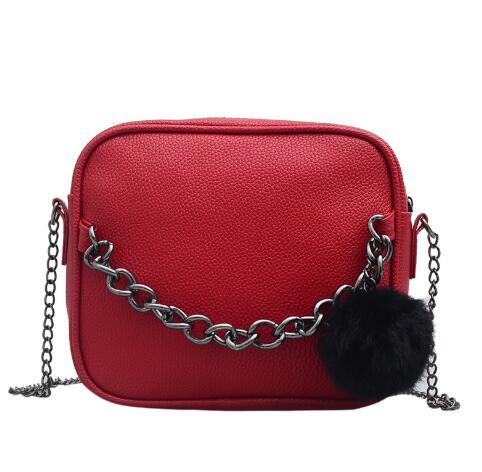Фото - Женская сумка через плечо с цепочкой, маленькая квадратная кожаная сумка через плечо, сумка через плечо, сумка через плечо сумка через плечо женская tamaris matilda 2959182 518 светло розовый