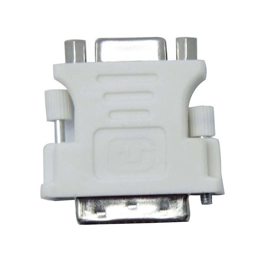 DVI I Male (24 + 5) в VGA Женский адаптер конвертер белый   