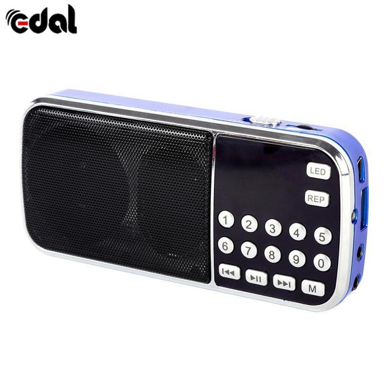 EDAL Mini Tragbare Digitale Stereo FM Lautsprecher Musik Player Mit TF Karte USB AUX Input-Sound-Box Neue
