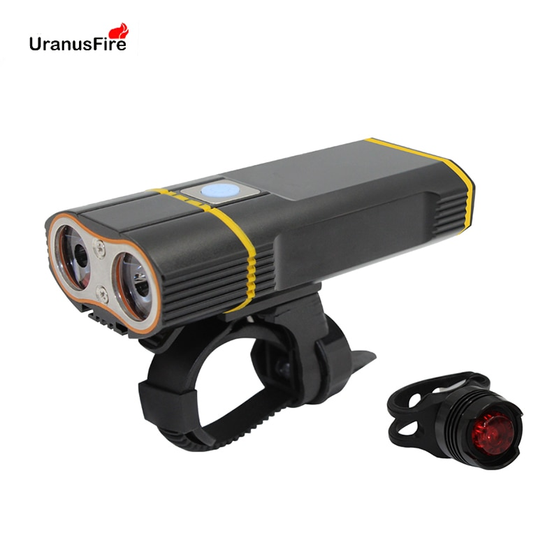 Uranusfire USB Rechargeable Bike Light Front Handlebar Cycling Led Light Battery Flashlight Torch Headlight Bicycle Light