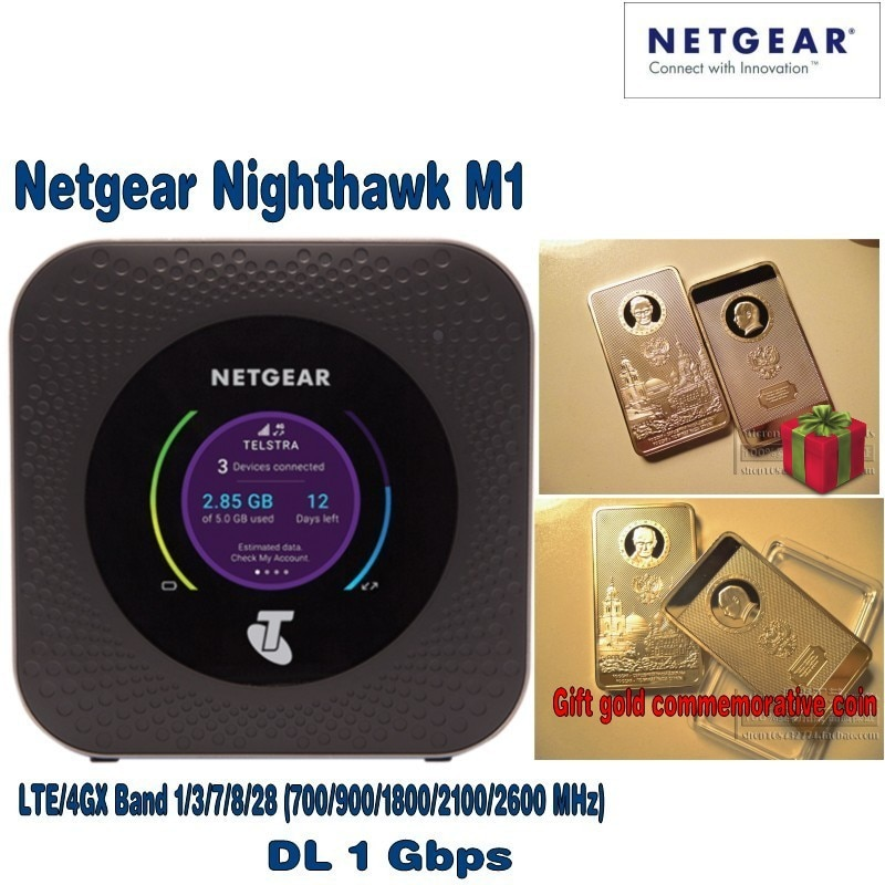 Netgear Nighthawk M1 4GX Gigabit LTE Mobile Router with free gift