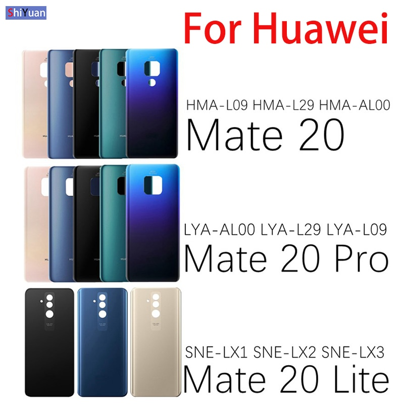 Rear Door Housing Case For Huawei Mate 20 Mate 20 Pro 20 Lite Battery Cover Back Glass Panel Battery