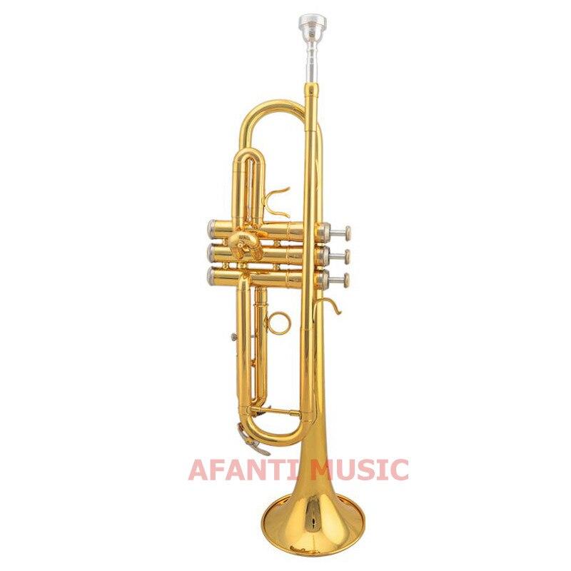 Afanti Música Latão Ouro Trompete Laca Atp-1391 Tom bb –