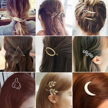 Mode Geometrie Haarspelden Vrouwen Meisjes Snap Hair Clips Pin Barrette Accessoires Voor Haar Vrouwen Meisjes Haarspeld Hoofdtooi Hoofddeksels