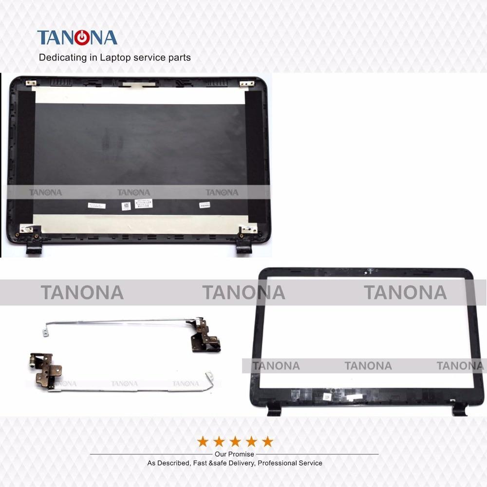 Orig nuevo para HP 15-g001xx 15-g060ca 15-g063nr 15-g070nr cubierta posterior de la cubierta LCD + bisel frontal + bisagras 749641-001 AP14D000200 negro
