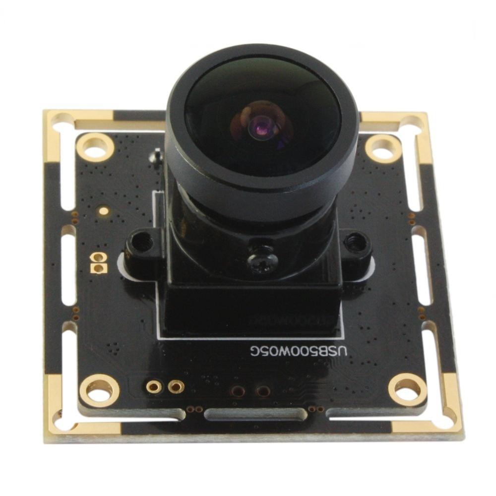 5mp high resolution  USB 2.0 webcam Aptina  free driver Color CMOS cctv USB Camera 5mp module  with 170degree fisheye lens