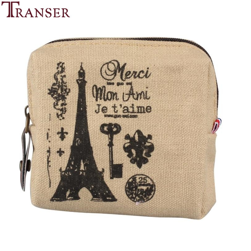 Transer 2018 New Retro Style Paris memory Womens Wallets Mini Lady Purse Wallet Card Coins Holders C