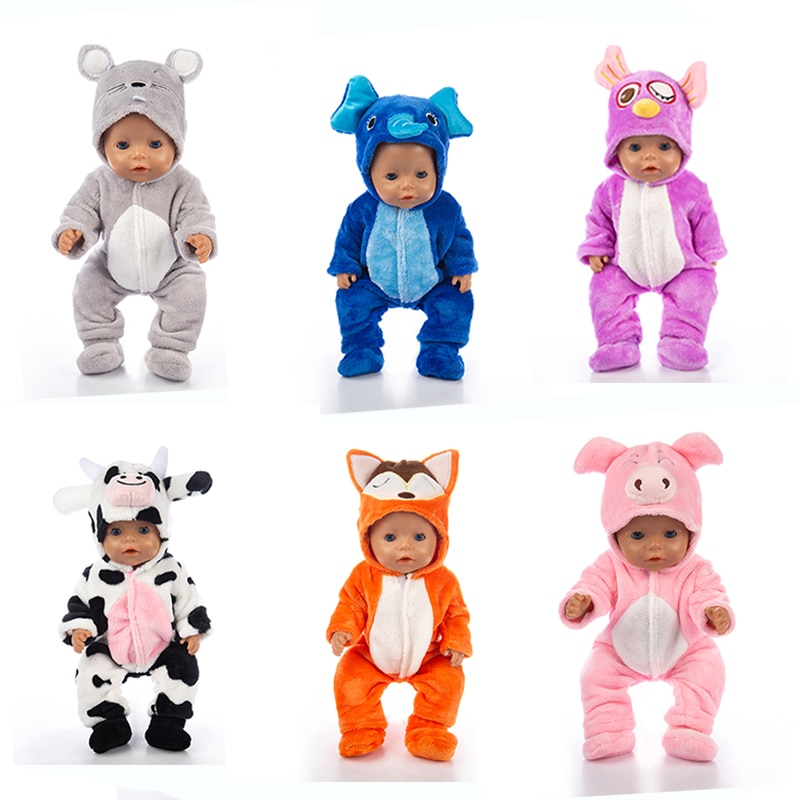 New Animal set + shoes  Doll Clothes Fit For 43cm born baby clothes reborn Accessories