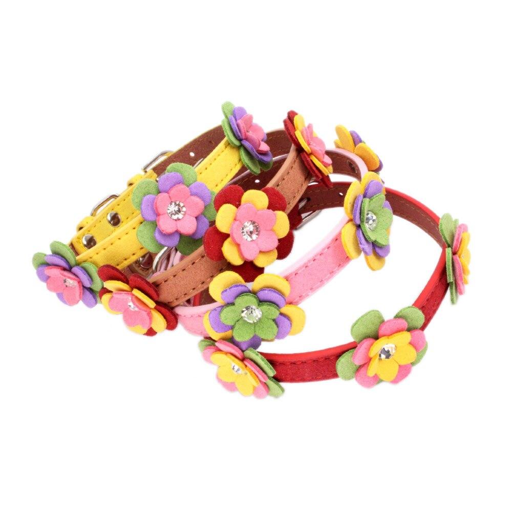 Collar para gatos Tricolor flores microfibra ajustable collar ornamental para productos para mascotas de gato collar para gato mascotas