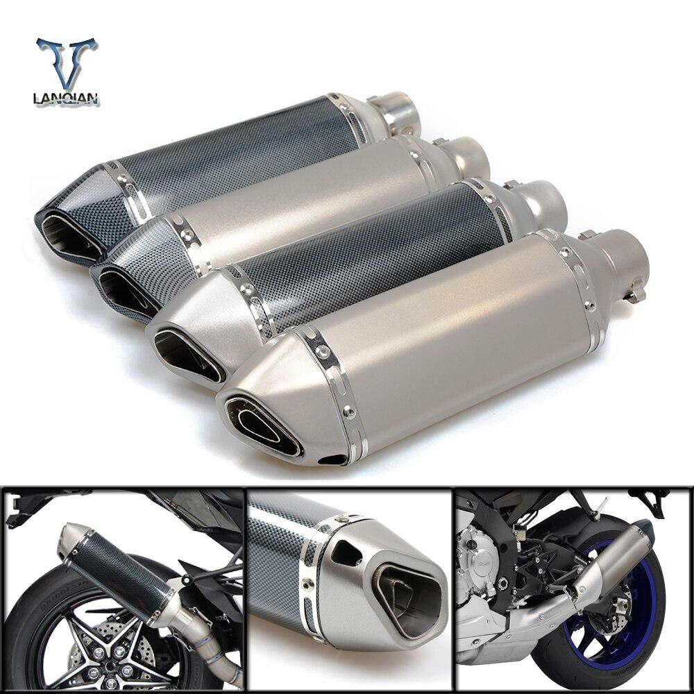 51MM Universal de Escape de la motocicleta escapar modificado mufla tubo de Escape para SUZUKI GSXR GSX-R 600, 750, 1000, 1300 K4 K5 K6 K7 K8 K9