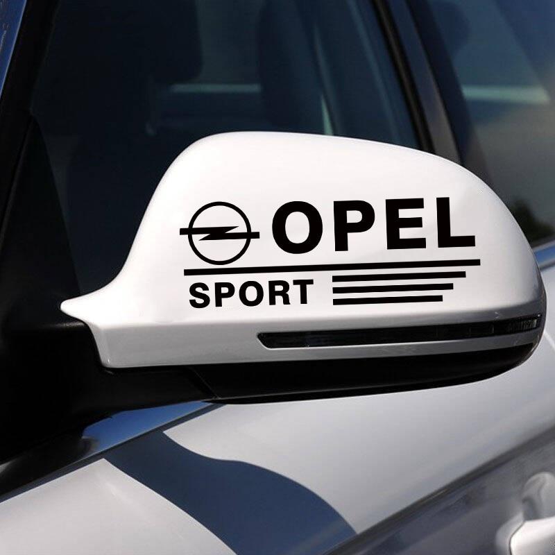 ANTINIYA 1 пара спортивных зеркал заднего вида, автомобильные наклейки, наклейка для автомобиля, Стайлинг для Opel astra h corsa zafira insignia vectra b antara