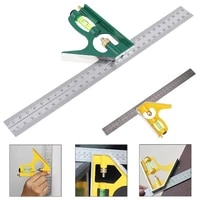 12 inch 300mm adjustable combination square angle ruler 45 90 degree with bubble level multi functional measuring tools