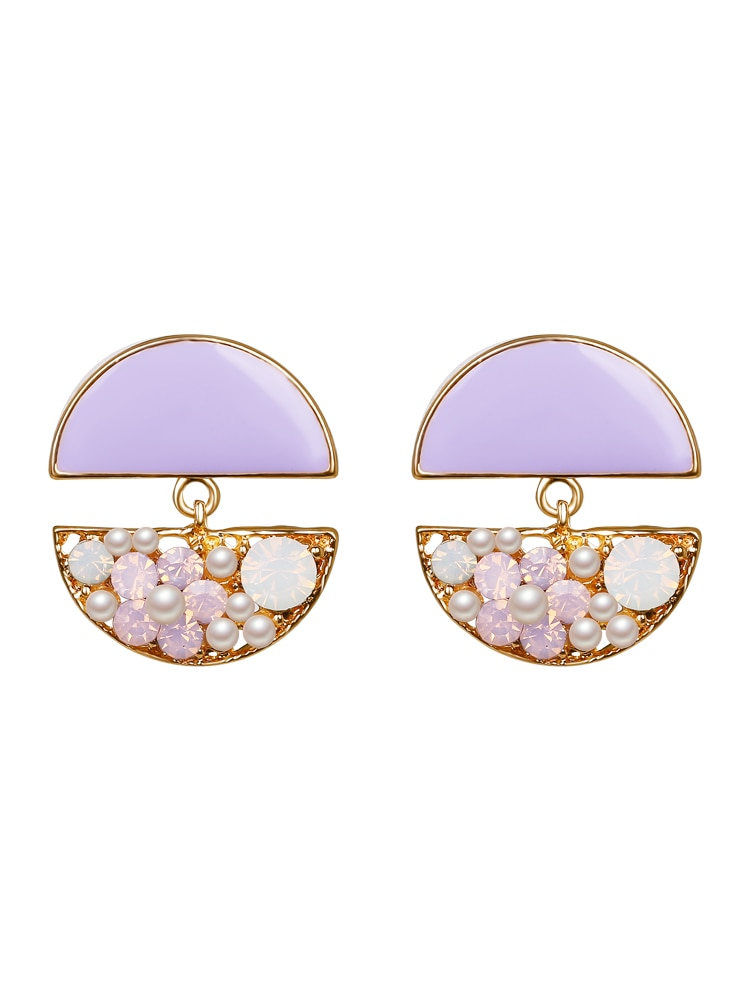2018 new colorful sweet flower small earrings for women fashion ear jewelry Rhinestone Party Wedding Jewelry Wholesale