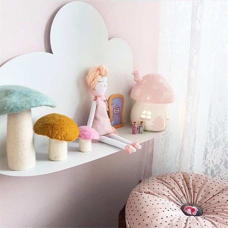 Hot sale kids room cloud wall shelves for baby room wall decor storage rack Christmas GIFT