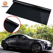 POSSBAY VLT 5% 50x300cm Black Car Window Tint Film Glass Automobiles Car Side Window Sunshade UV Protect Film