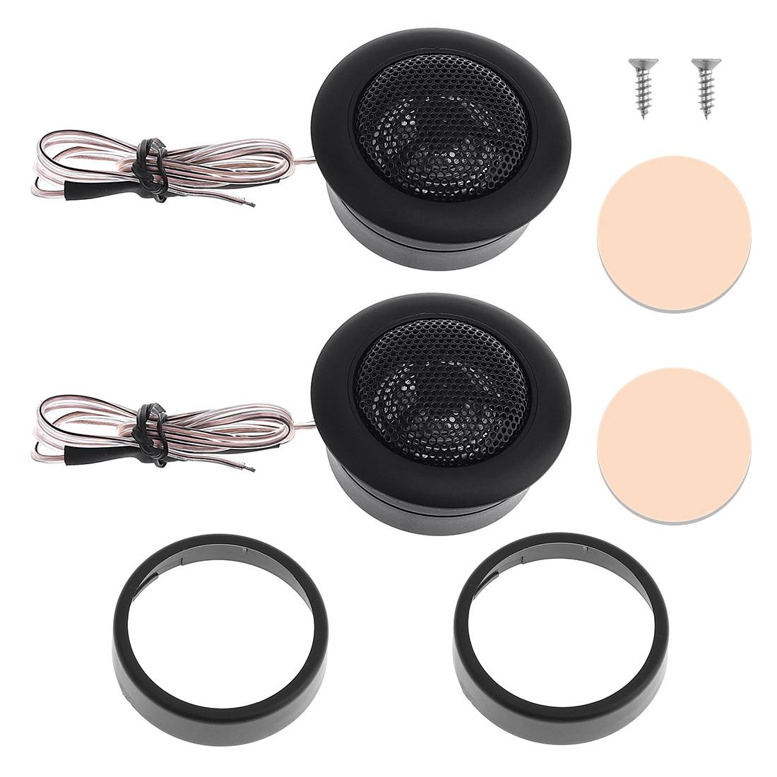2Pcs/Lot 200W T120 Car Horn Dome Tweeter Car Speaker Audio Loudspeaker Car Stereo Speaker for Car Vehicle Sound Audio System