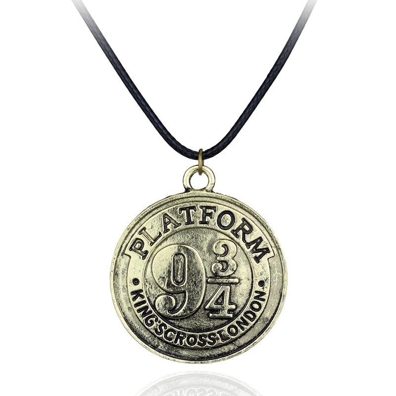 Collar Ravenclaw Hogwarts Express plataforma 9 3/4 Kings cross London colgante Fantasy Wizard Charm Collar para mujeres y hombres