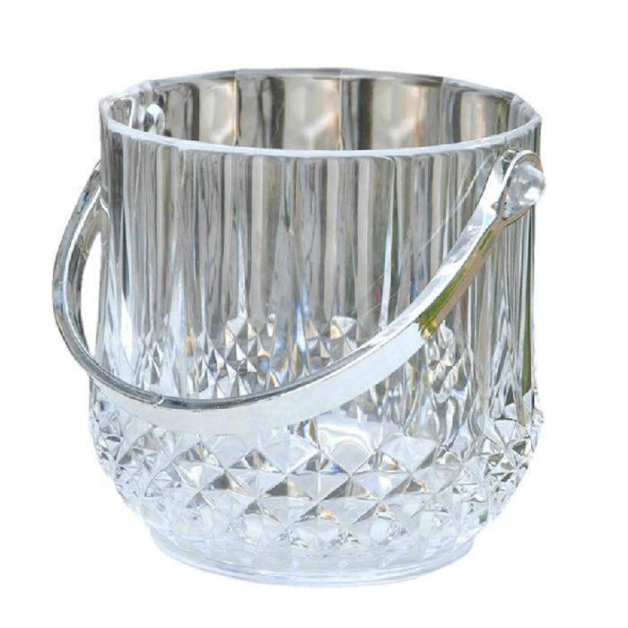 Balde de gelo acrílico balde de gelo plástico transparente balde de gelo champanhe balde de gelo pmma refrigerador de gelo
