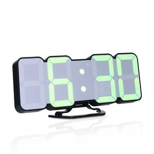 Digital Wall Clock Time Alarm Clock LED Table Clock With 115 Colors Remote Control Digital Watch Night Light Magic Desktop