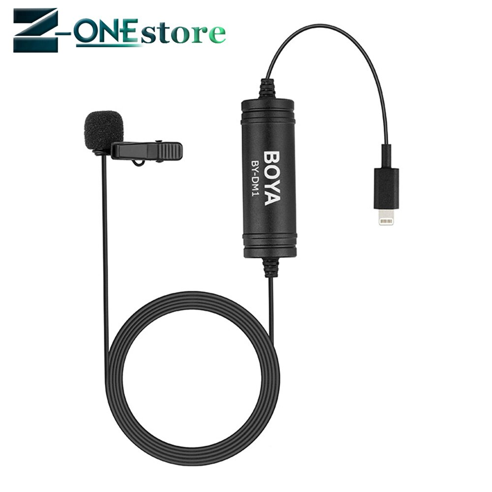 Más BOYA BY-DM1 Lavalier micrófono Clip-En micrófono con IOS interfaz de enchufe 8 para iPhone 7 Plus iPad aire iPod Touch