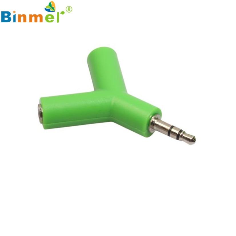 Precio de fábrica, divisor Y de Audio estéreo de 3,5mm, adaptador de Cable 2 hembra a 1 macho para auriculares J09T, envío directo