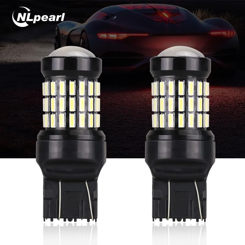 NLpearl 2x T20 7440 de 7443 bombillas LED 4014 60smd led CanBus No Error W21/5 W W21W WY21W lámpara led para luz de indicación de giro de coche No Flash
