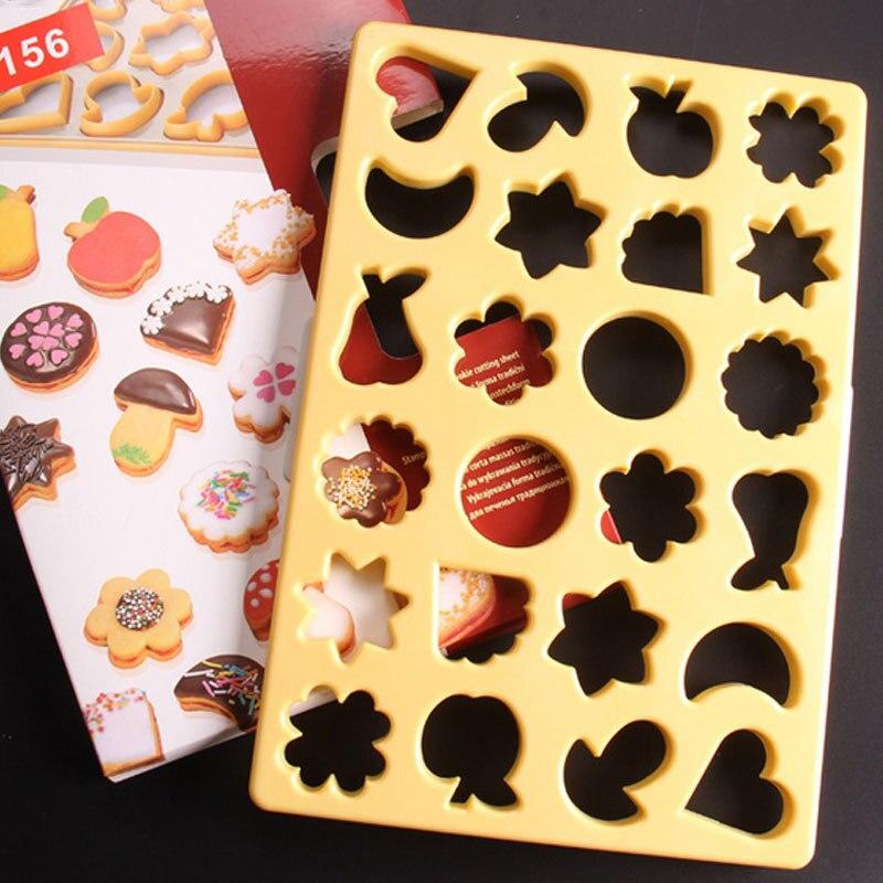 Molde de decoración de galletas cortador de galletas de 24 formas corazón Luna estrella fruta